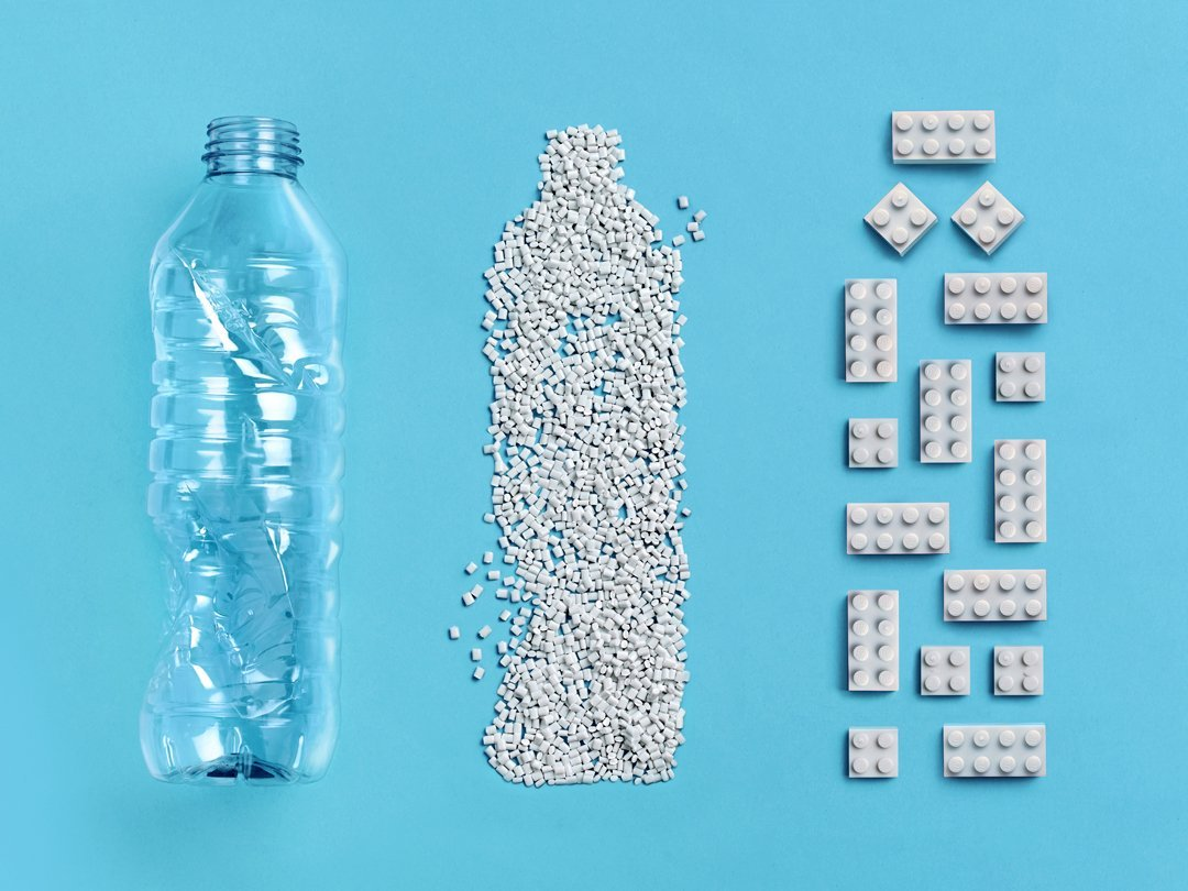 klocki lego z butelek